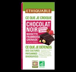 chocolat noir noisette framboise grenade equitable bio ethiquable