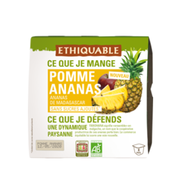 ethiquable dessert de fruits pomme ananas