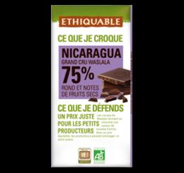 ETHIQUABLE CHOCOLAT BIO EQUITABLE nicarague 75 %