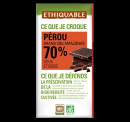ETHIQUABLE CHOCOLAT BIO EQUITABLE noir perou 70%