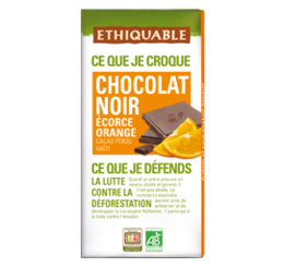 ethiquable chocolat noir orange confite bio equitable