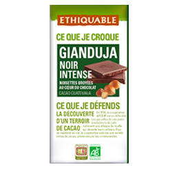 gianduja Ethiquable chocolat noir intense bio équitable