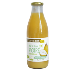 Nectar Poire Williams bio equitable en France Paysans d'ici