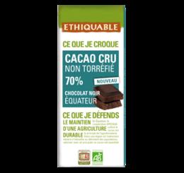 Cacao cru non torréfié 70% équitable & bio