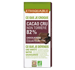 cacao cru 82% bio équitable ethiquable