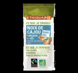 Noix de cajou grillées à sec et sans sel équitable et bio - ETHIQUABLE