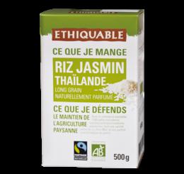 Riz Jasmin équitable et bio - ETHIQUABLE