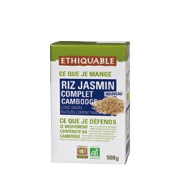 riz jasmin complet cambodge bio equitable ethiquable