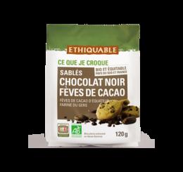 ethiquable sables chocolat noir fève de cacao bio equitable