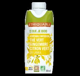 thé glacé gingembre citron vert équitable bio ethiquable