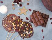 sucettes chocolat festives