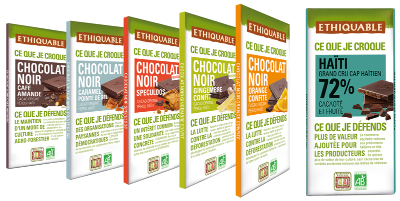 chocolat noir bio equitable haïti feccano ethiquable