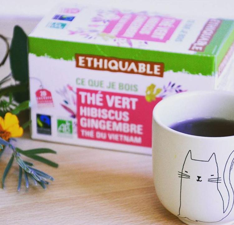 thé vert hibiscus gingembre ethiquable